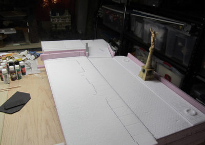 Laying out the French Village Diorama