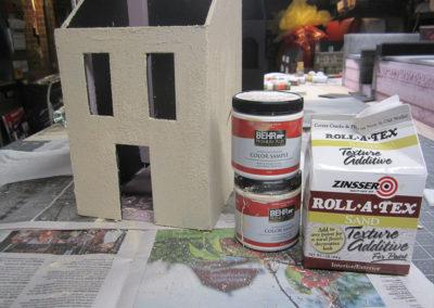 Making a foam core  board building