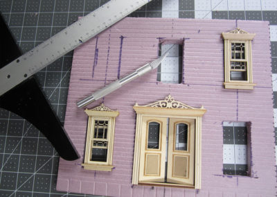 Building a French village house