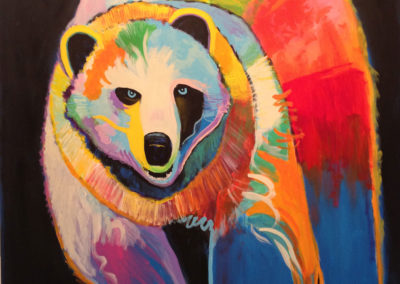 Griz....5' x 3.5' in acrylic on canvas of my favorite wild beastie