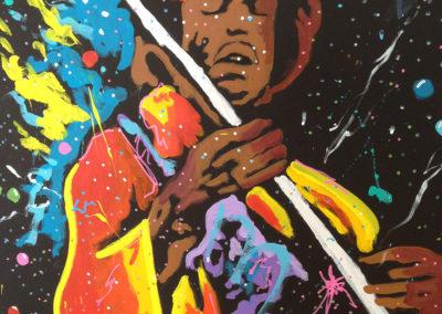 Jimi Hendrix rock god