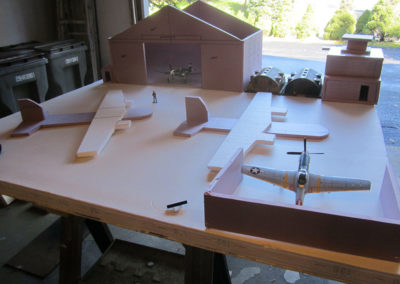 Mock up of airfield
