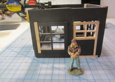 Constructing the radio room