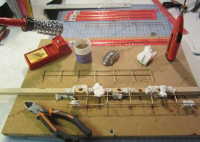 Making railings for tower platforms