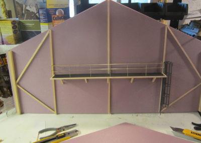 Building the hanger walls