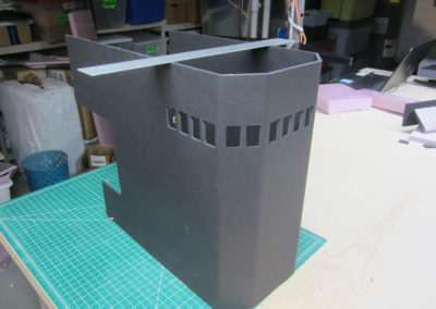 Creating a Japanese aircraft carrier out of foam board