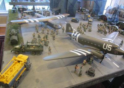 Diorama-the night before D-Day 25