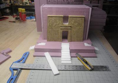 Creating main Egyptian temple
