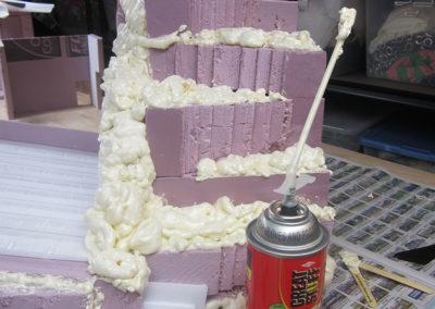 Using foam insulation to make rocks