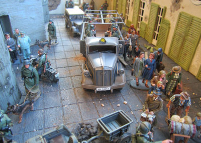 Hitlers final Bunker diorama-with Russians very near, everyone's trying to get out of town