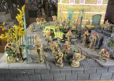 "Diorama of K&C British airborne advancing thru Dutch City of Arnhem from movie ""A Bridge too Far""-12"
