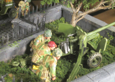 "Diorama of K&C British airborne advancing thru Dutch City of Arnhem from movie ""A Bridge too Far""-8"