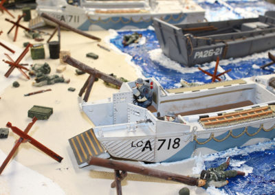 "Detailing the beach section for ""Saving Pvt Ryan"" Diorama"