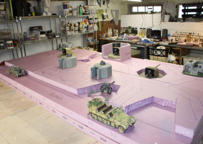 "Detailing the diorama surface for ""Saving Pvt Ryan"""