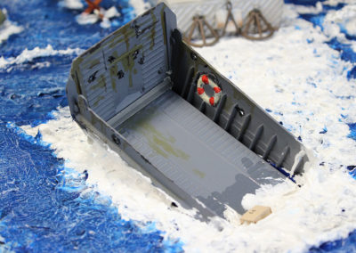 Sinking landing craft
