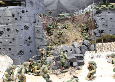 Rangers lead the way  in Saving Pvt Ryan diorama