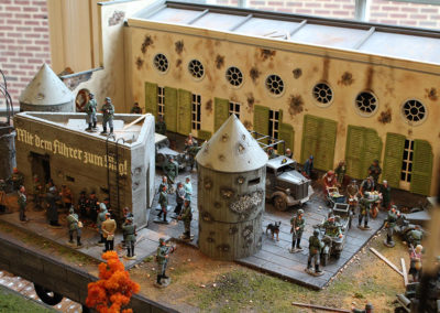 Hitlers bunker diorama...2' x 4' Diorama of Hitlers bunker using King and Country figures and Vehicles
