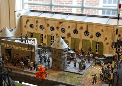 Hitlers last Bunker diorama with King and Country figures and vehicles