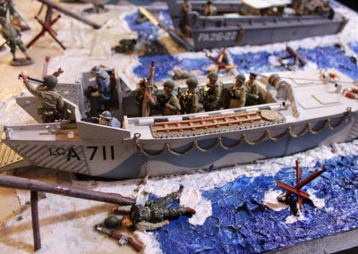 GI's storm ashore in Saving Pvt Ryan diorama