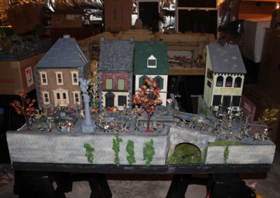 France-May 1940-10 sq ft diorama of German Blitzkrieg passing through a French village in May 1940