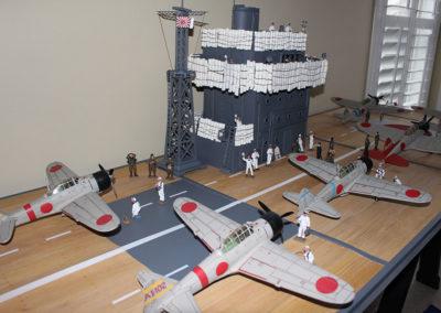 Japanese aircraft carrier Akai diorama