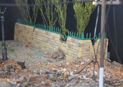 "Detail of street for the Diorama for ""A Bridge too Far"""