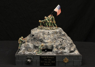 Semper Fi...Iwo Jima-Marines raising of the flag on Mount Suribachi