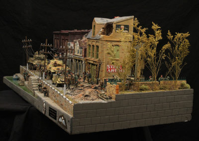 "12 sq ft Diorama of the battle of Arnhem from movie ""A Bridge too far"""