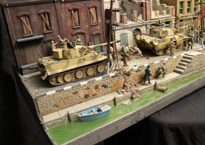 Tiger and Panther tanks from German Panzer division provide an unwanted surprise for the British Airborne entering Arnhem
