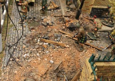 Details of destruction on Arnhem Street