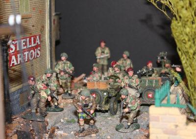 Brit Paras advance through the town of Arnhem