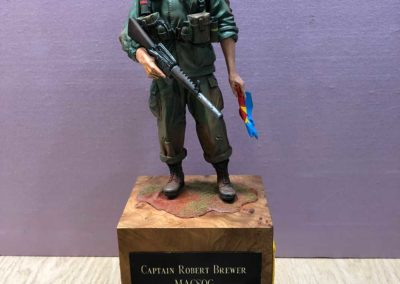 Captain Robert Brewer-MACSOG sculpt I did for my brother from another mother Bob Brewer, the US Attorney for the Southern District of California. and close friend for 50 years