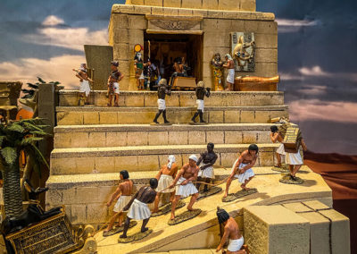 Ancient-Egypt-Diorama-The building of the pharaohs burial preparation chamber