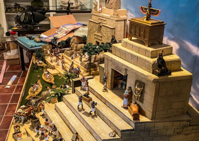 Ancient-Egypt-Diorama being set up in clients home