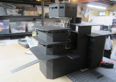 "The operations ""island"" is almost complete and ready for detailing and paint. I continually assemble the parts as they are completed to insure visual continuity."