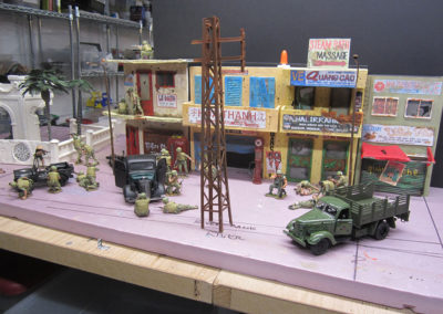 I constantly dry fitted the pieces as they were constructed to insure the visual harmony and sighlines of the diorama as it was constructed.