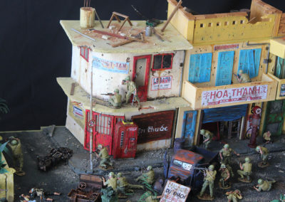 The city was virtually destroyed during the fierce and vicious house to house, street to street  battle .
