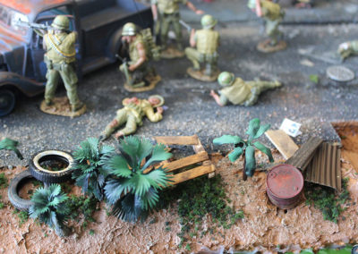 The battle was vicious as dead and wounded mounted up on both sides