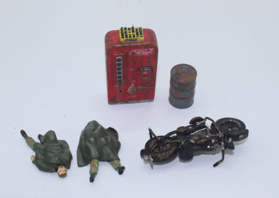 Details that were made or converted to show objects that can be found on any urban battle field