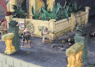 NVA and VC Firing at US Marines in vicious hand to hand street fighting in Hue