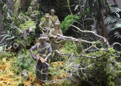 Each member wears a different uniform that our patrol members typically wore-Special Forces members chose their own uniform and kit depending on personal preference and the mission