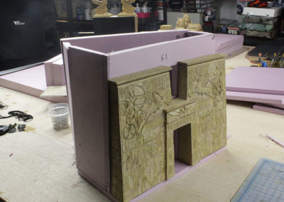 Temple one using foam board and the K&C facade