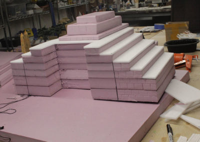 The egyptians used a million stones....I use pink insulation foam!