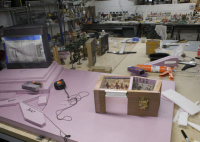 The diorama under construction.