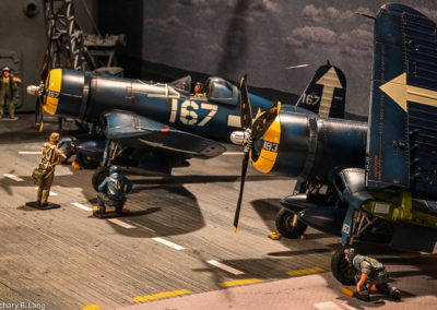John Jenkins Corsairs ready to launch. Note the detail on each plane and crew member
